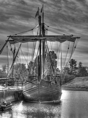 Muelle Photograph - The Nina And Pinta  Columbus Replica Ships  V14 by John Straton