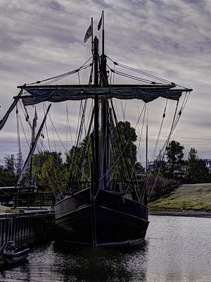 Muelle Photograph - The Nina And Pinta  Columbus Replica Ships  V15 by John Straton