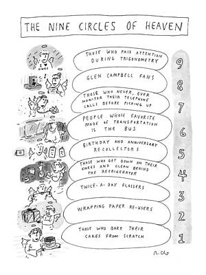 Heaven Drawing - The Nine Circles Of Heaven by Roz Chast