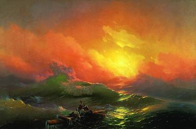Poland Painting - The Ninth Wave 1850 By Aivazovsky by Movie Poster Prints