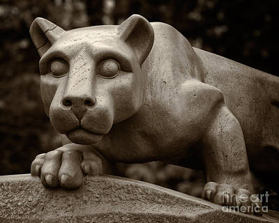 Photograph - The Nittany Lion Shrine by Mark Miller