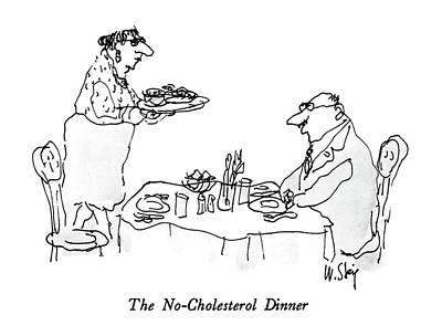 The No-cholesterol Dinner Art Print by William Steig