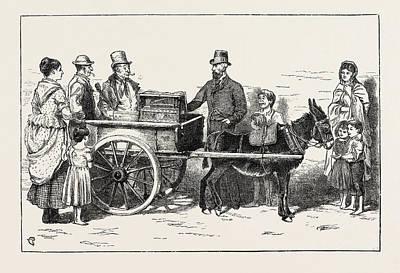 The Nobleman Organ Grinder Now On A Tour Through The Irish Art Print