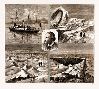 Human Beings Drawing - The Nordenskjold Greenland Expedition, 1883 1. The Sophia by Litz Collection