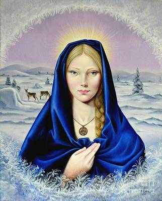 Painting - The Nordic Madonna by Nathalie Chavieve