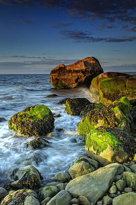 The North Fork's Rocky Shore Art Print by Rick Berk