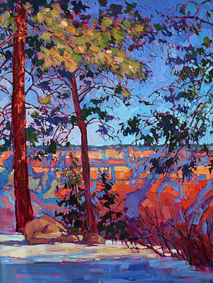 Bright Colors Painting - The North Rim Hexaptych - Panel 2 by Erin Hanson