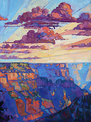 Landscape Painting - The North Rim Hexaptych - Panel 5 by Erin Hanson