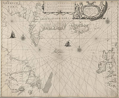 The North Seaa Chart Art Print by British Library