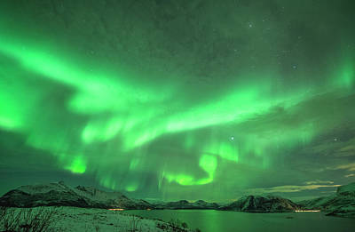 Photograph - The Northern Lights by Bernt Olsen