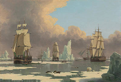 The Northern Whale Fishery Art Print by John of Hull Ward
