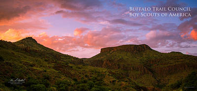 Nature Spirit Photograph - The Notch At Sunset - Pano by Aaron Bedell
