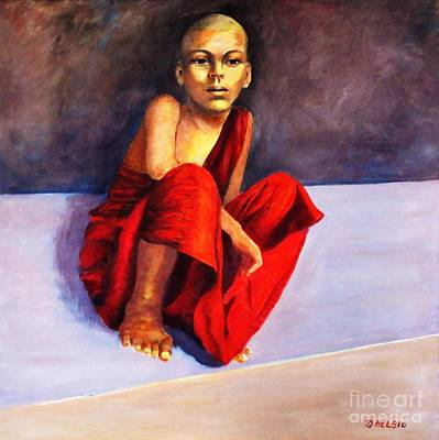 Composure Painting - Little Buddha by Dagmar Helbig