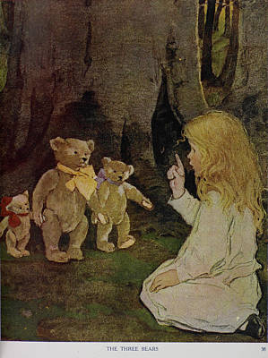 Goldilocks Photograph - The Now-a-days Fairy Book by British Library
