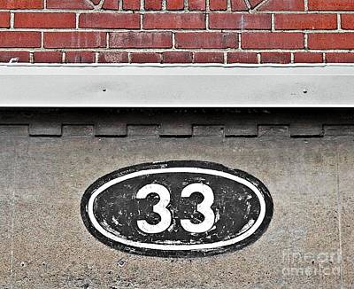 Photograph - The Number 33 by Ethna Gillespie