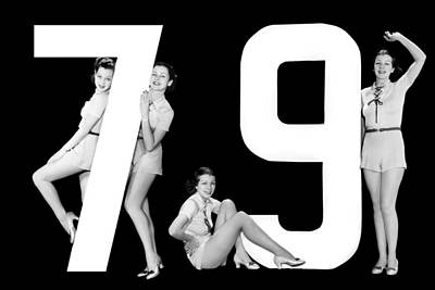 The Number 79 And Four Women Art Print by Underwood Archives