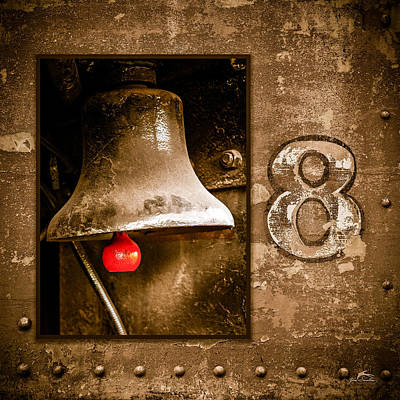 Selective Color Of The  Number 8 Bell On The Train Art Print