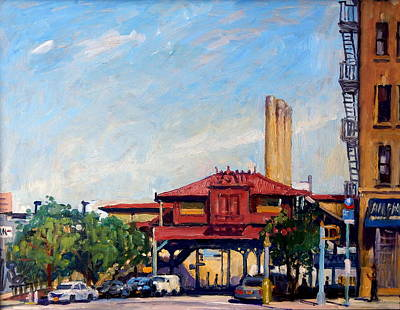 Painting - The Number One Train 215th Street Station Nyc by Thor Wickstrom