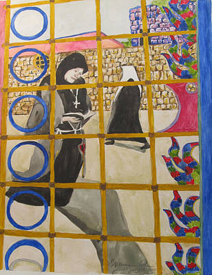 Painting - The Nuns by Esther Newman-Cohen