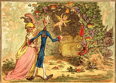 Grapes Drawing - The Nuptial Bower, With The Evil One, Peeping At The Charms by Litz Collection