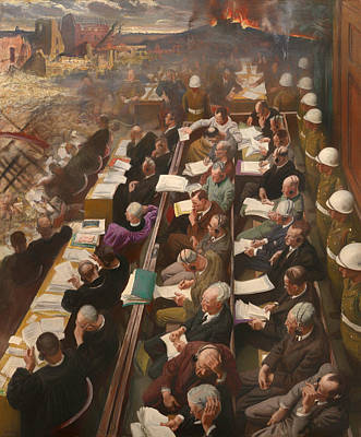 Justice Painting - The Nuremberg Trial 1946 by Mountain Dreams