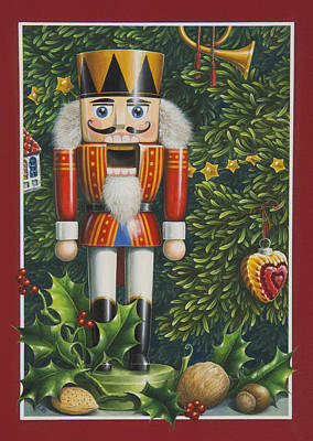 Nutcrackers Painting - The Nutcracker by Lynn Bywaters