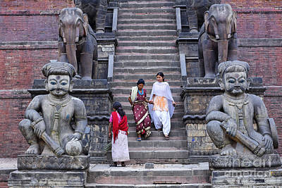 The Nyatapola Temple At Bhaktapur In Nepal Art Print by Robert Preston
