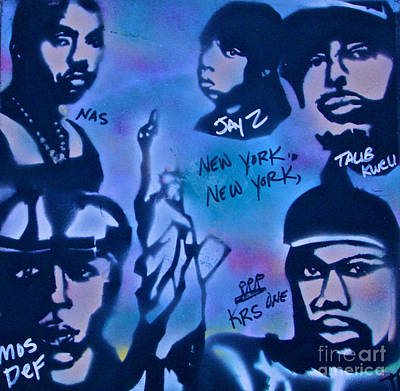 First Amendment Painting - The Nyc Side by Tony B Conscious