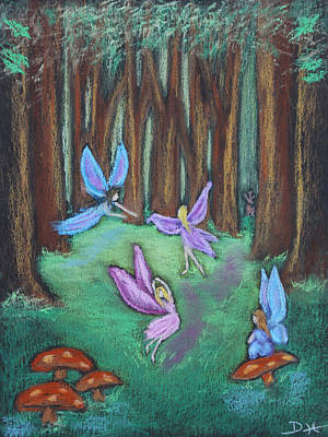 Pastel - The Oak Grove by Diana Haronis