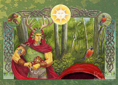 Midsummer Eve Digital Art - The Oak King by Melissa A Benson