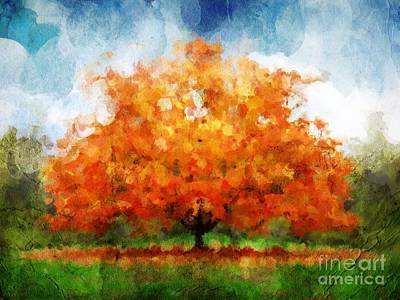 The Oak Art Print by Angelica Smith Bill