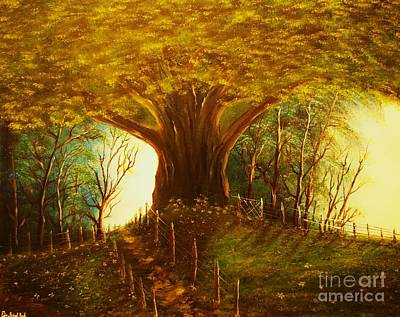 The Oak Tree-original Sold-buy Giclee Print Nr 31 Of Limited Edition Of 40 Prints  Art Print
