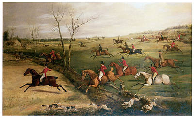 Horseback Painting - The Oakley Hunt by Henry Thomas Alken