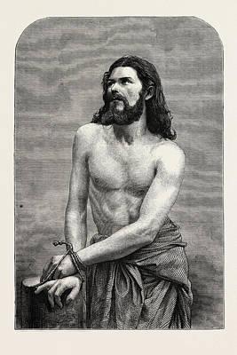 Bayern Drawing - The Oberammergau Passion Play Joseph Mair Der Christus by German School