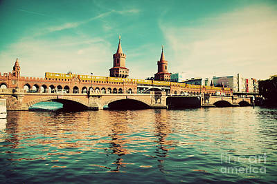 City Photograph - The Oberbaum Bridge In Berlin Germany by Michal Bednarek