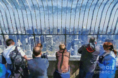 Painting - The Observatory On Empire State Building by George Atsametakis