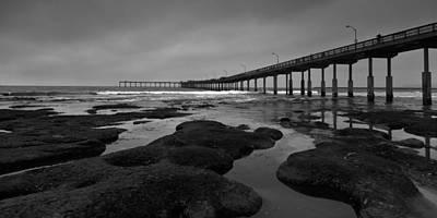 Widescreen Photograph - The Ocean Beach Pier by Peter Tellone