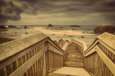 Stairs Photograph - The Ocean Beckons by Andrew Soundarajan