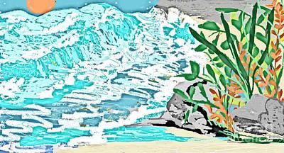 The Ocean Blues Art Print by Sherry  Hatcher