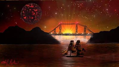 The Ocean Bridge Original by Michael Rucker