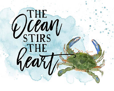 Ocean Watercolors Painting - The Ocean Stirs The Heart by Amy Cummings