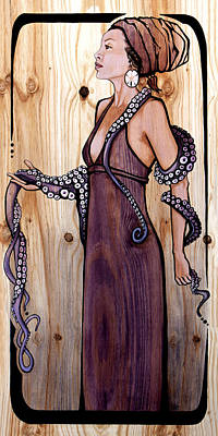 Painting - The Octopus by Janet Guenther
