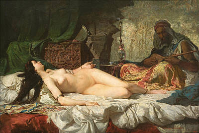 Mariano Fortuny Painting - The Odalisque by Mariano Fortuny