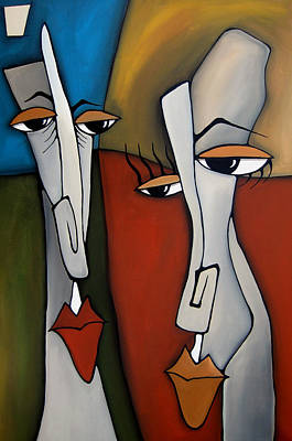 Abstract Pop Drawing - The Odd Couple By Fidostudio by Tom Fedro - Fidostudio