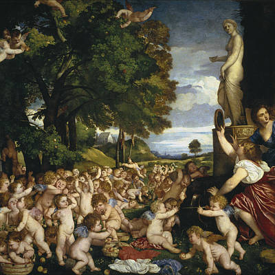 The Offering Painting - The Offering To Venus by Titian