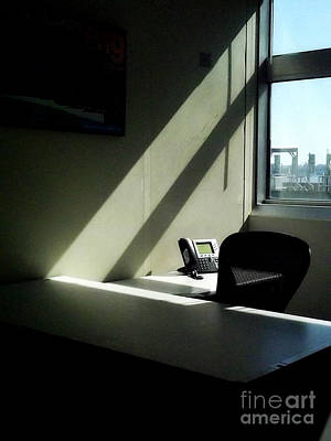 Photograph - Office After-hours - Interiors by Miriam Danar