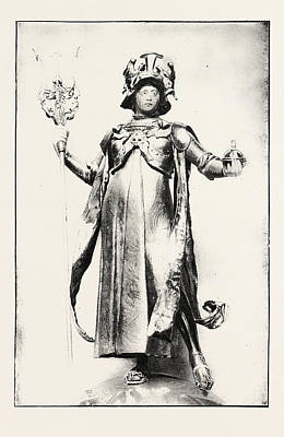 Jubilee Drawing - The Officers Jubilee Memorial, The Figure Of Britannia by English School