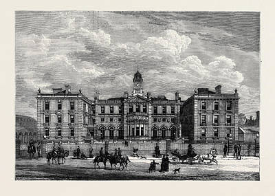 Barrack Drawing - The Officers Quarters New Barracks At Knightsbridge London by English School