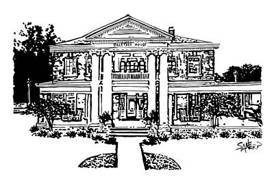 Spiers Drawing - The Ogletree House by Amanda  Sanford