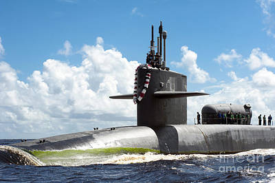 The Ohio-class Guided Missile Submarine Art Print by Stocktrek Images